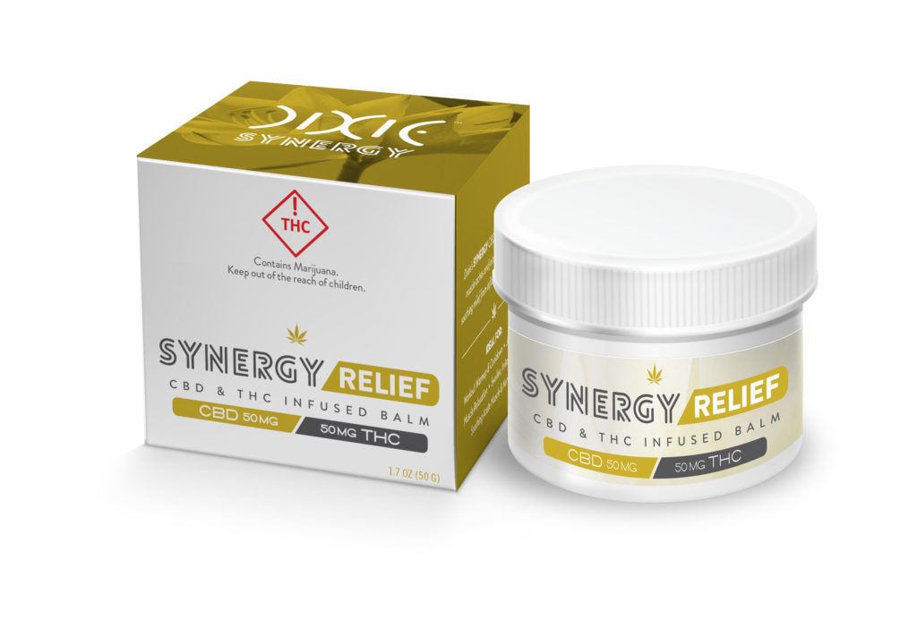 Synergy THC and CBD Relief Balm brought by Dixie Elixirs