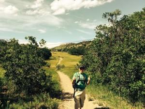 Keegan on a hike