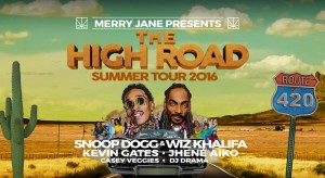 SNOOP DOGG AND WIZ KHALIFA ON THE HIGH ROAD TOUR WIDE