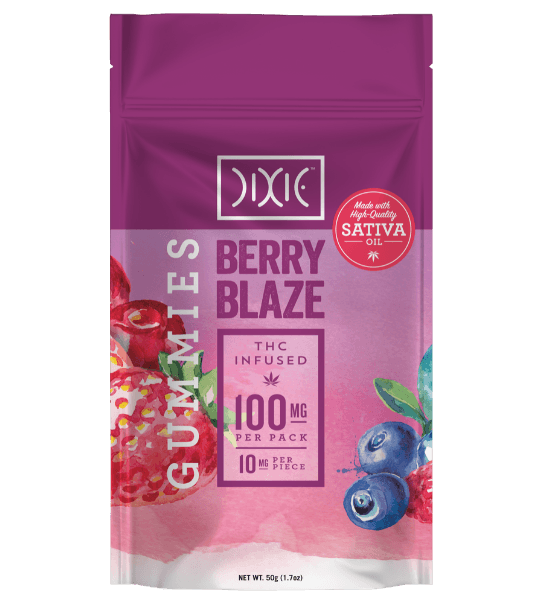 Dixie Berry Blaze Gummies Pouch