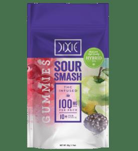 Dixie Sour Smash Gummies Pouch