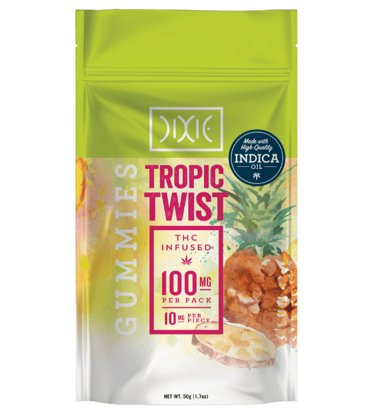 Dixie Tropic Twist Gummies Pouch