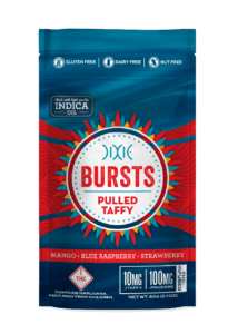 New edible: Bursts Pulled Taffy by Dixie