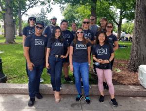 The Dixie team volunteering at Civic Center Park