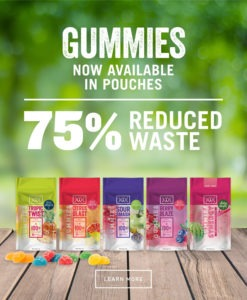 Dixie Gummies new pouches have 75% reduced waste