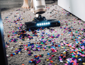 Vacuuming glitter
