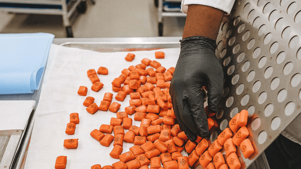 Production of THC-infused taffy